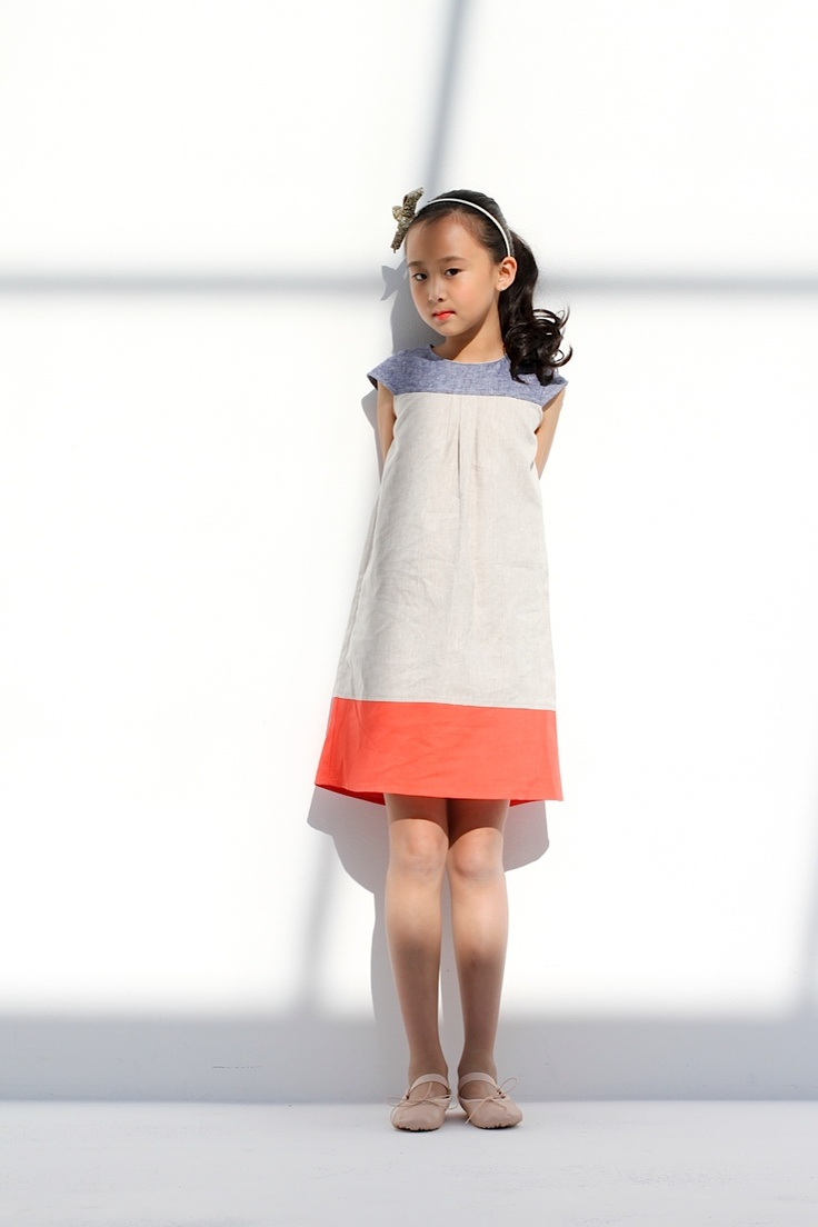 Simple colour blocking from Neige for modern kidswear (oliver + s ice cream dress?)
