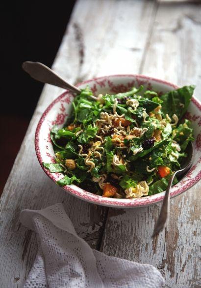 Salade verte, vinaigrette au concombre & à la lime