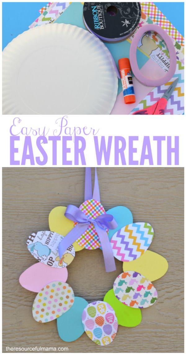Pasen - Themahoek/tafel deurhanger van papieren eieren