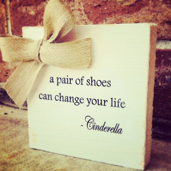 5x5 Cinderella Quote Sign, Inspirational Sign, Office Decor, Wood Sign, Gift on Etsy, $12.00