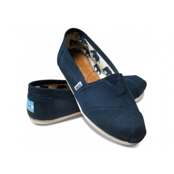 Toms Casual Shoes Classic Canvas Suede Navy Blue - Toms Shoes