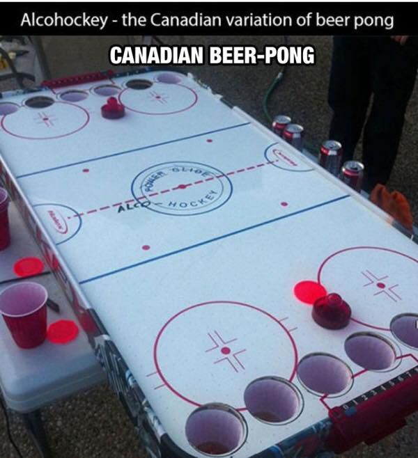 Funny Memes - [Canadian Beer pong]