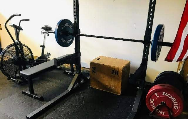 Astoriacannon Home Gym Set Up W Isf Squat Rack Flat Bench And