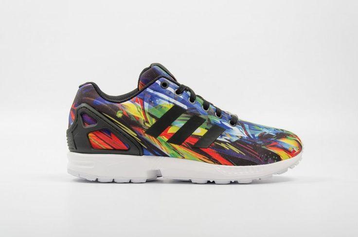 NEW ADIDAS ZX FLUX MULTICOLOR RAINBOW Originals MENS 12 Limited NR #Adidas #Athletic