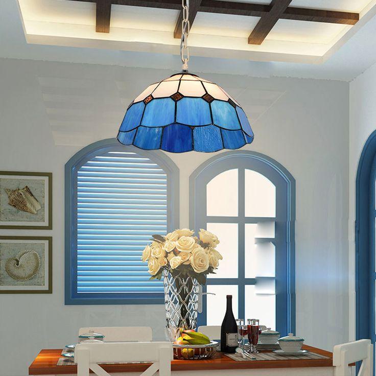 led e27 Mediterranean Iron Glass LED Lamp LED Light.Pendant Lights.Pendant Lamp.Pendant light For Dinning Room Foyer Store Bar #Affiliate