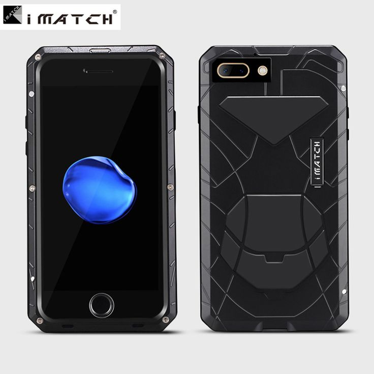 Luxury Armor Metal Aluminum &Silicone shockproof Gorilla Glass Mobile Phone Protect Bag cover case for iphone 7 plus