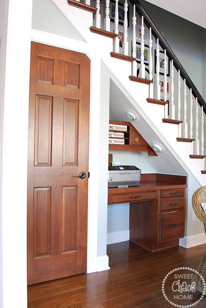 Sweet Chaos Home: Desk Under The Stairs
