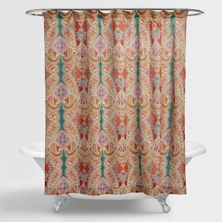 Our Venice Paisley Shower Curtain Adds A Whimsical Air With Its Rich  Paisley Print. Crafted In India Of Cotton, This Exclusiveu2026