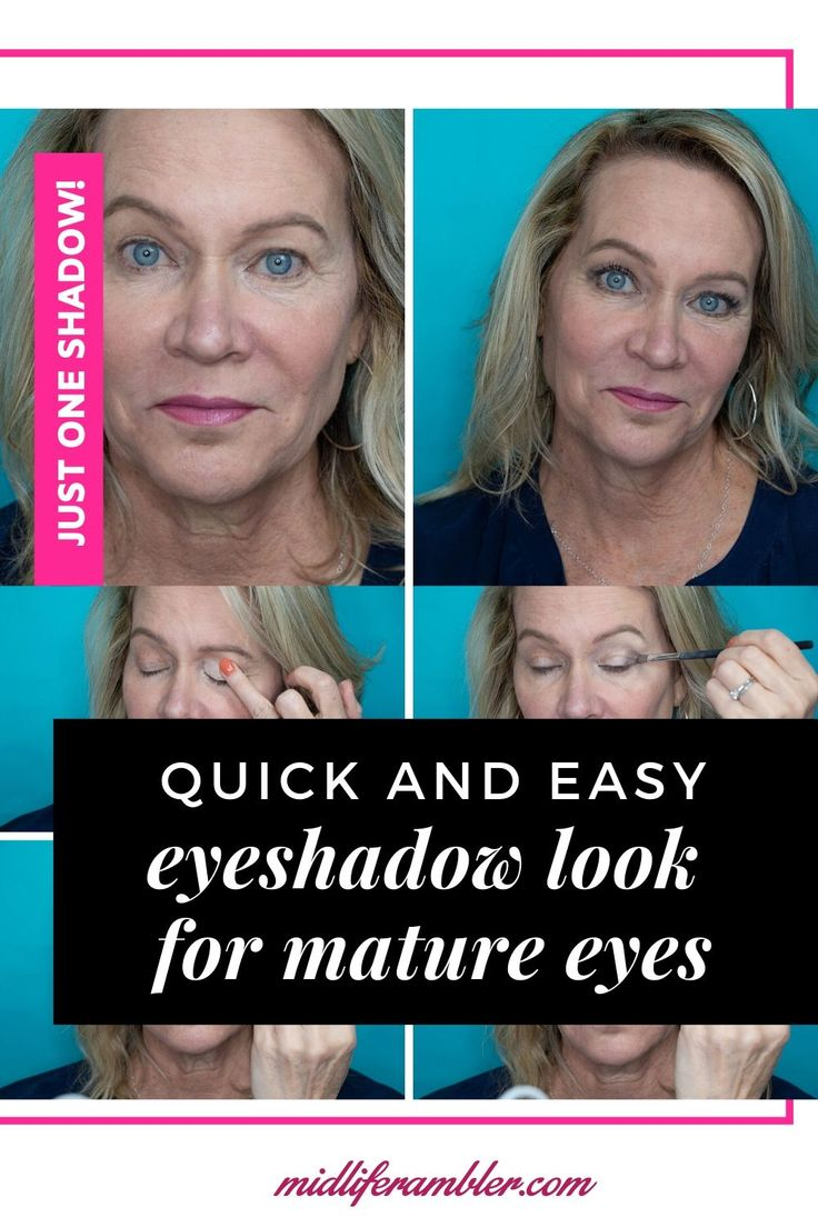 Over 50? Easy eye makeup for droopy hooded eyes As we