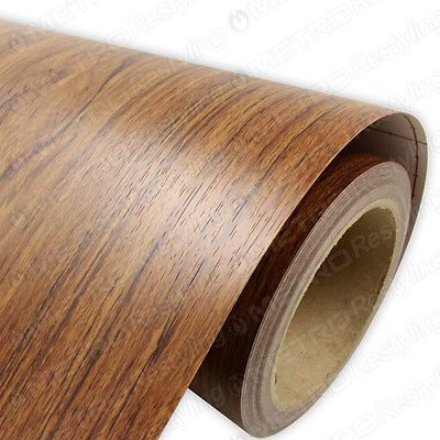15-x-4ft-3M-DINOC-MARINE-TEAK-Wood-Grain-Vinyl-Wrap-Film-Adhesive-Backed-Decal