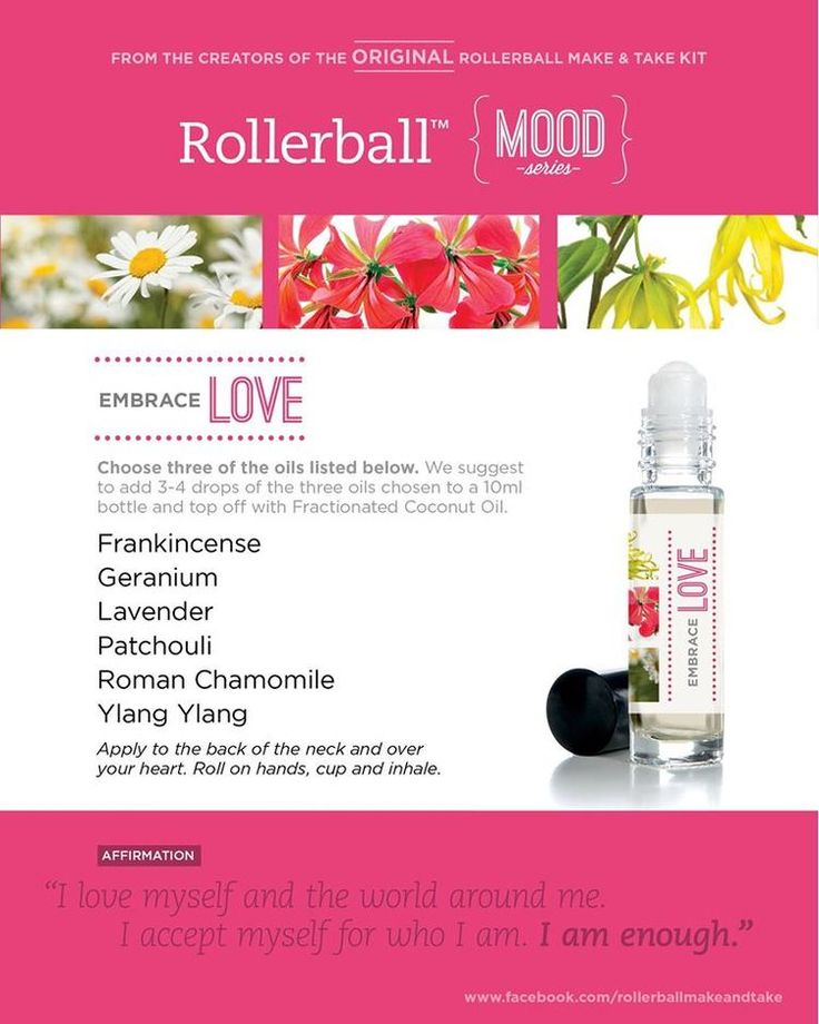 Essential Oil Roller Bottle Recipe To Embrace Love