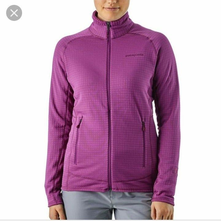 Patagonia Womens R1 Full Zip Up Fleece Jacket Color Ikat Purple Size Xs Size Chart Added In Excellent Patagonia Fleece Jacket Fleece Jacket Patagonia Womens