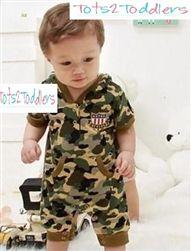 Boys Camouflage Romper
