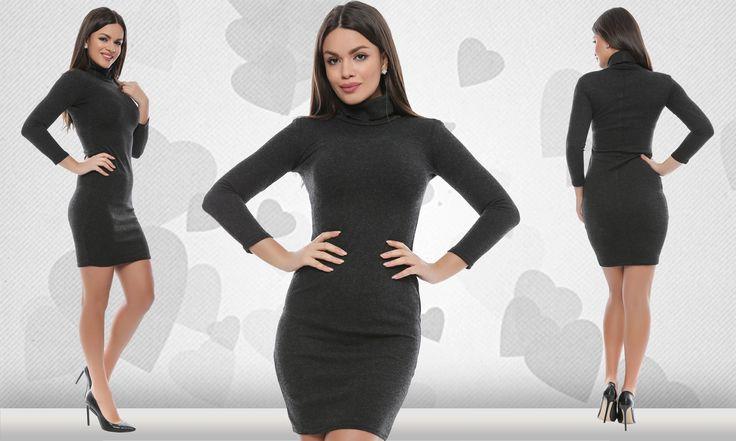 Vă prezentăm o rochie marca Adrom Collection din angora cu conținut de bumbac. Are mâneci lungi și un guler înalt, stil helancă. Este un model foarte călduros, perfect pentru vremea specifică anotimpului rece. Se poate achiziționa online în regim en-gros de aici:  http://www.adromcollection.ro/444-rochie-angro-r580.html