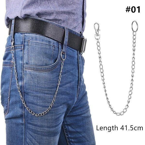 Key Chains Clip Hip Hop Jewelry Wallet Chain Belt Biker Link  Pants KeyChain