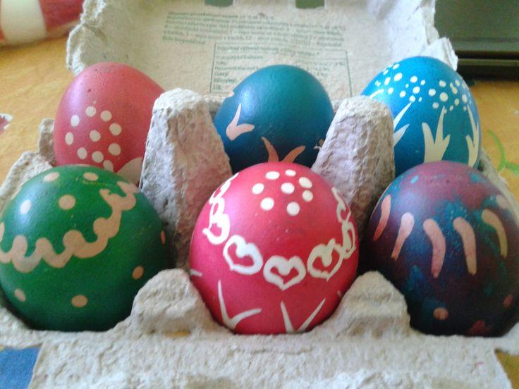 Zdobení vajíček za pomocí vosku