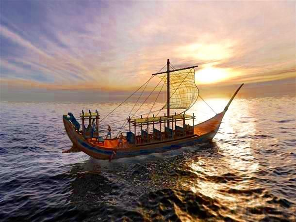 Minoan merchant ship, c. 17th Century BCE.