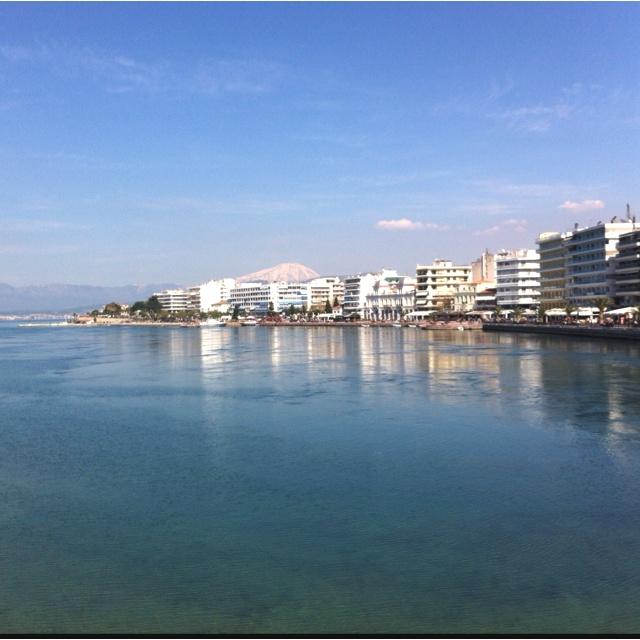 Chalkida on island Evia in Greece