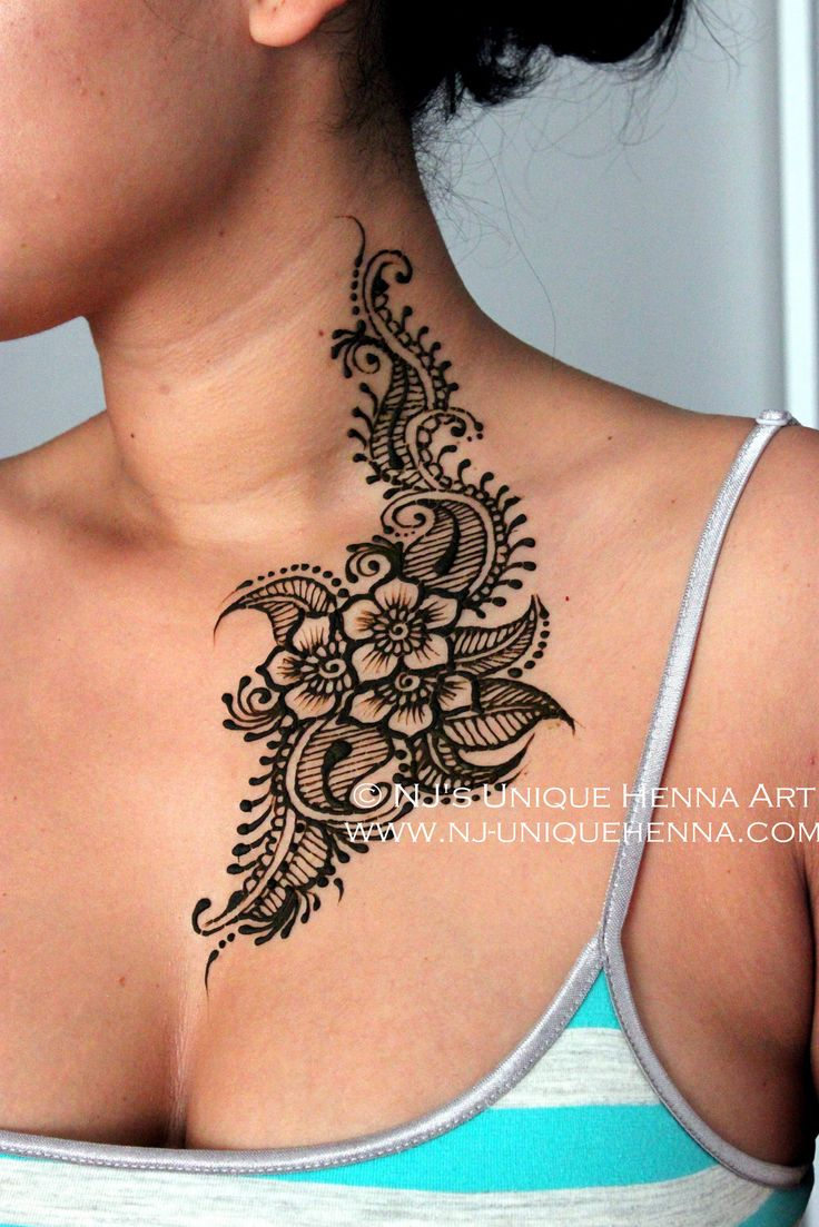 Kenia's henna body art from neck to chest 2013 © NJ's Unique Henna Art | Flickr
