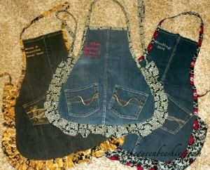 Denim aprons by stitchee woman