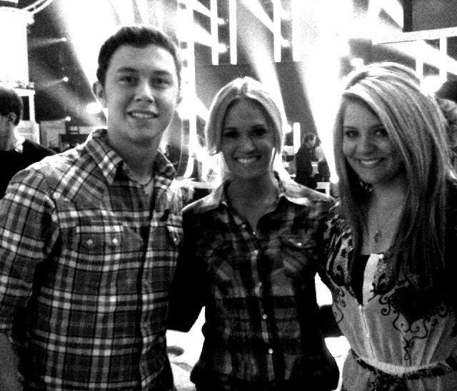 Carrie with Scotty McCreery & Lauren Alaina! American Idol.