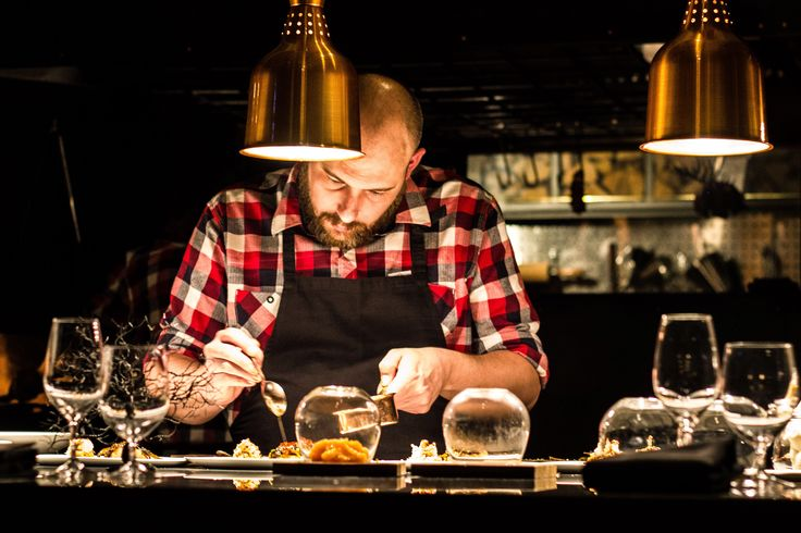 Chef working at Ekstedt in Stockholm. Photo: Mikkel Bækgaard, www.mikkelbaekgaard.dk