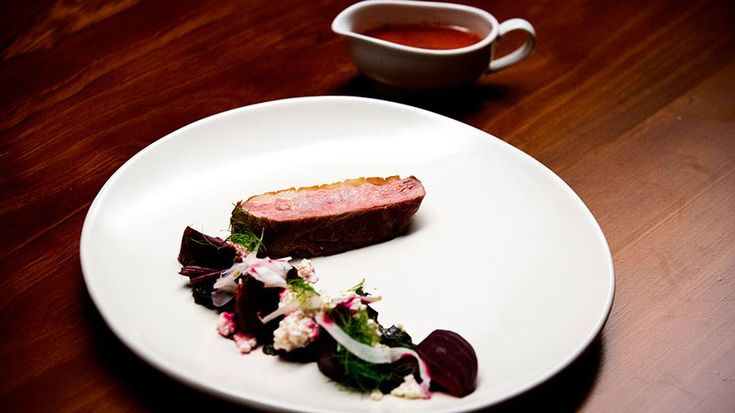 Seared Duck Breast with Beetroot, Fennel and Ricotta Salad