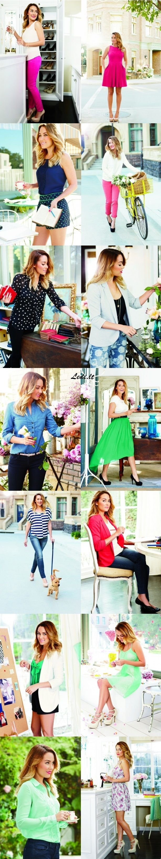Loving the Pink pants Lauren Conrad Spring 2013 Look Book...I would like all of this please. She's just perfection