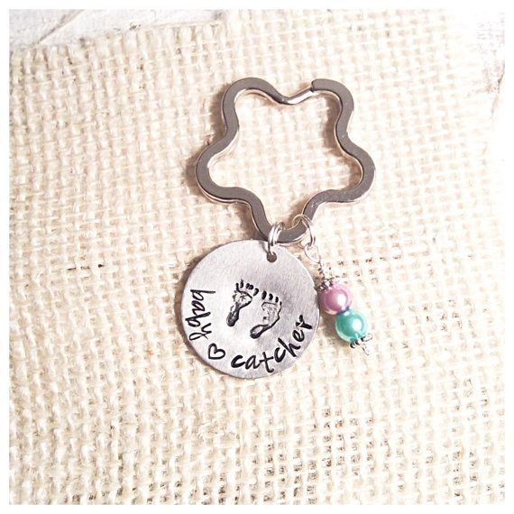 Midwife Gift  Metal Stamp Keychain  Baby by Route105Designs