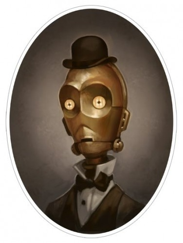 Victorian Star Wars portraits.  Oh me oh my.  Someone is a genius!
