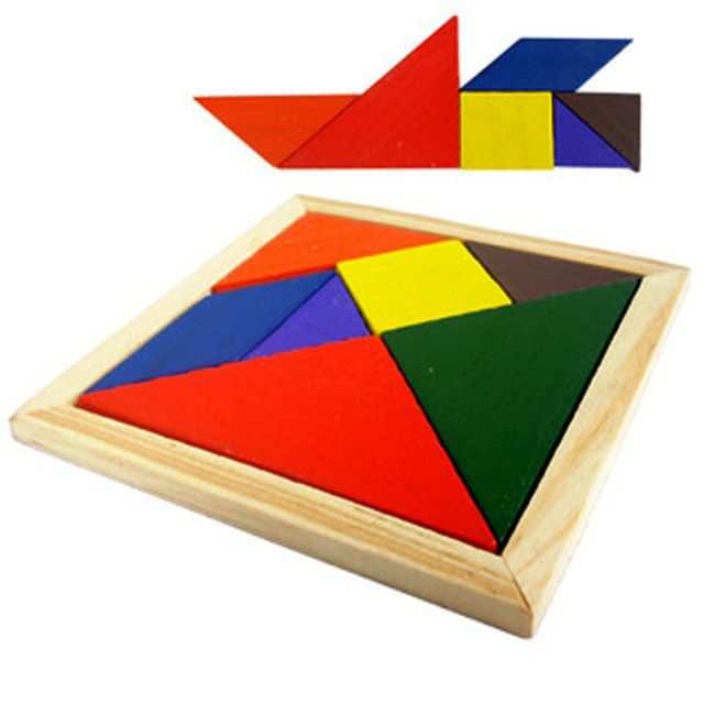 Bs # S educacional Developmental Toy de madeira Tangram quebra-cabeça quebra-cabeças para as crianças