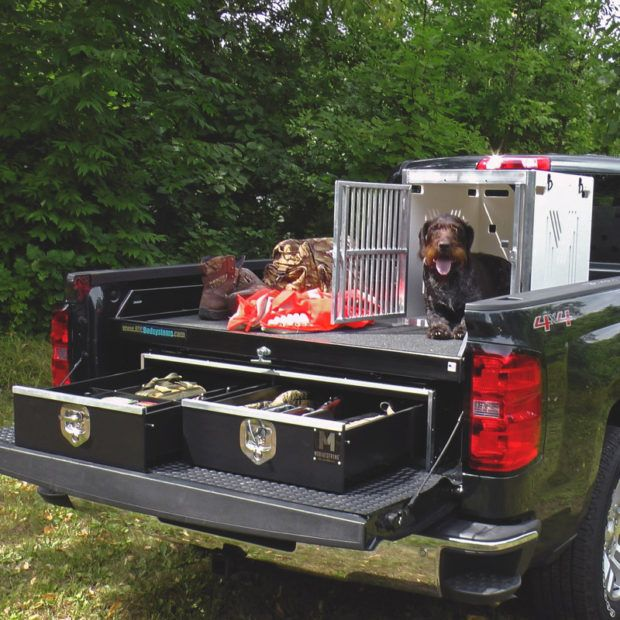 Truck Bed Storage Drawers Protect Organize Your Gear In 2020 Truck Bed Dog Kennel Truck Bed Storage