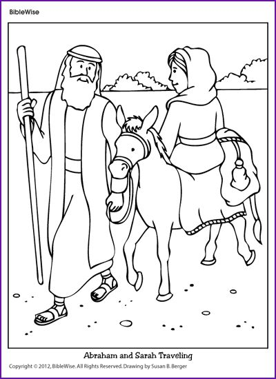 Enjoy Coloring This Picture Of Abraham And Sarah Traveling To A New Land