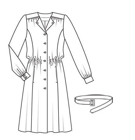 Платье - выкройка № 114 из журнала 9/2012 Burda – выкройки платьев на Burdastyle.ru