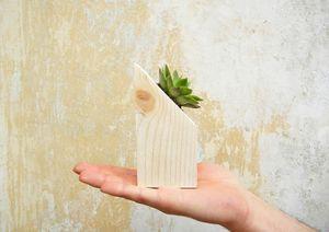 Wooden Plants - Succulent flower pot