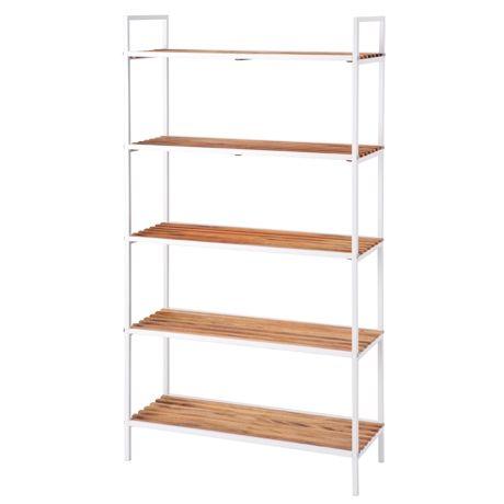 Store 5 Shelf Storage Unit (Wide) Acacia White