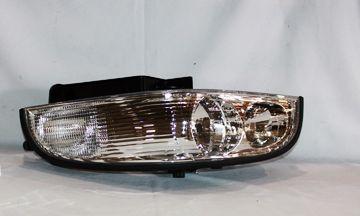 1997-2005 Buick Park Avenue Chrome/Clear Euro Headlights - TYC - Left - Driver - 1997, 1998, 1999, 2000, 2001, 2002, 2003, 2004, 2005