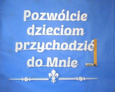 Napisy - Cytaty Eucharystyczne Ze Styroduru (NA ZAMÓWIENIE) 06 - ARQ - DECOR | Pracowania Dekoracji ARQ DECOR