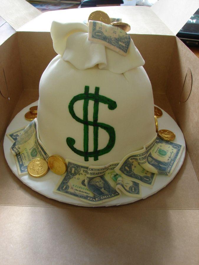 Money Birthday Cake Creative Inspiration In Food Watercolor