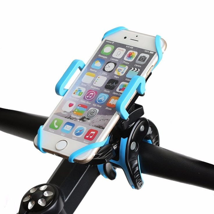 Heavy Duty Bike Phone Mount Holder with Tight Rubber Band & 360 dgree Rotate #BlitzWolf