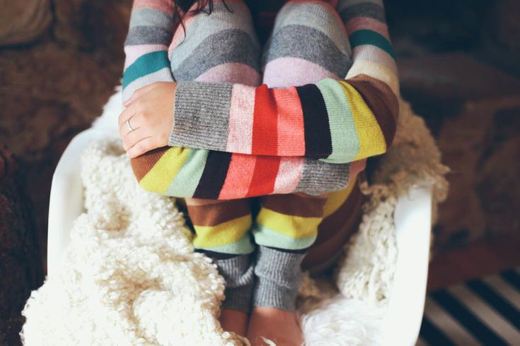 It's time of year, and the perfect weekend to curl up in the coziest outfit  you can find and relax! We are in love with Gap's Holiday collection, they  have lots of fun colours, patterns and fabrics, like this set of sweater  leggings and stripe crewneck. The best part is they have this same pattern  in outfits for the little one's too, perfect for matching Christmas morning  PJ's!