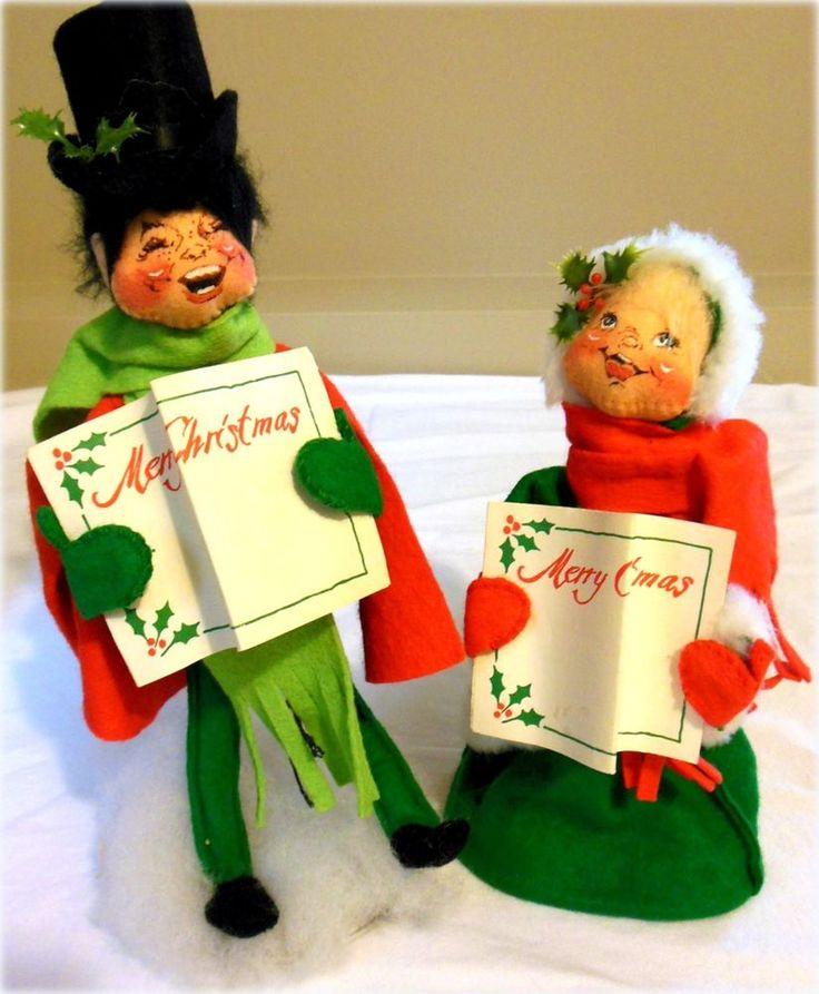 Vintage Christmas Decorations Mouse Carolers Set Jasco: 33 Best ANNALEE'S Images On Pinterest