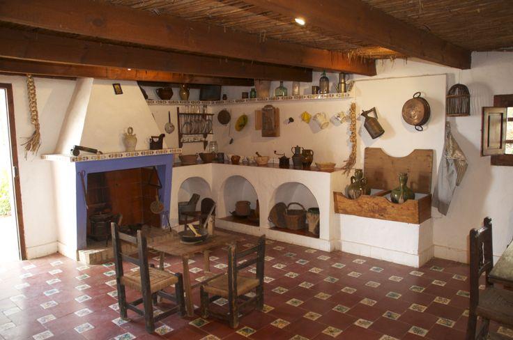 Interior barraca valenciana en Port de Catarroja