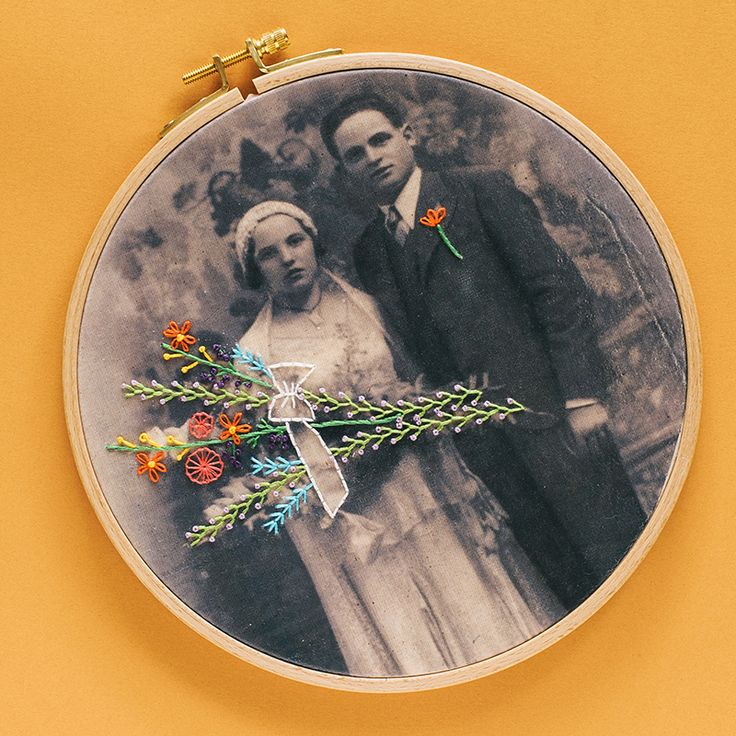 A Stitch in Time: Embroidered Family Photo   Commonthread by DMC