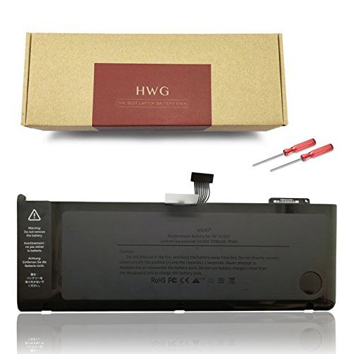 A1321 Battery for A1286 APPLE MacBook Pro 15 inch (Only for 2009 2010 Version) Laptop Replacement Battery, for MB985 MC118 MB986 Series Notebook [Li-Polymer 10.95V 79Wh] by HWG #Battery #APPLE #MacBook #inch #(Only #Version) #Laptop #Replacement #Battery, #Series #Notebook #Polymer
