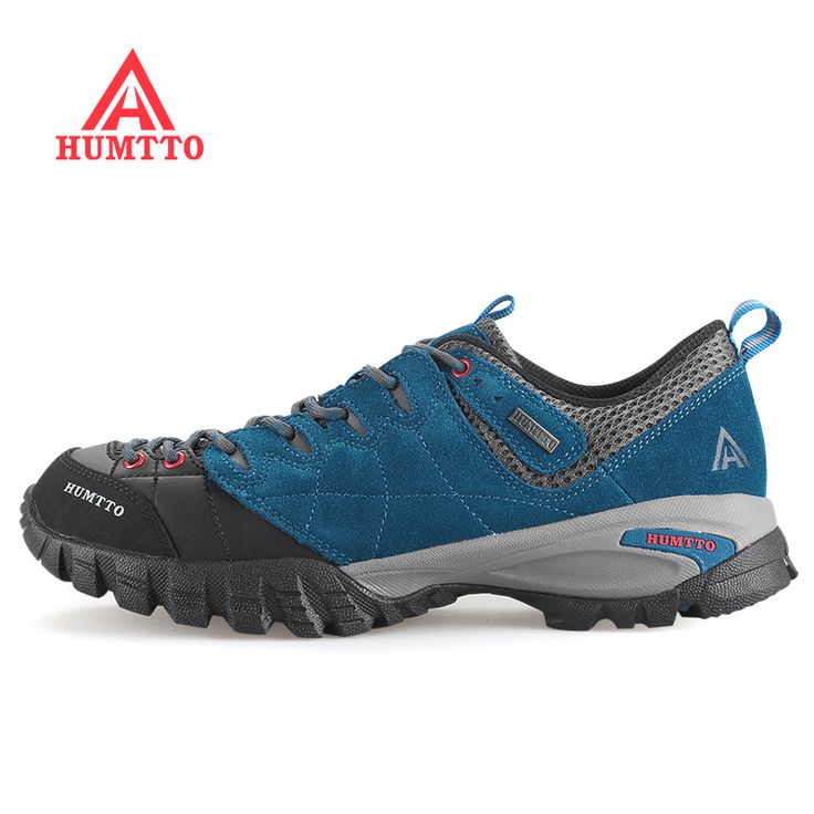 Brand HUMTTO Mens Leather Outdoor Trekking Hiking Shoes Sneakers For Men Wearable High Quality Climbing Mountain Shoes Man