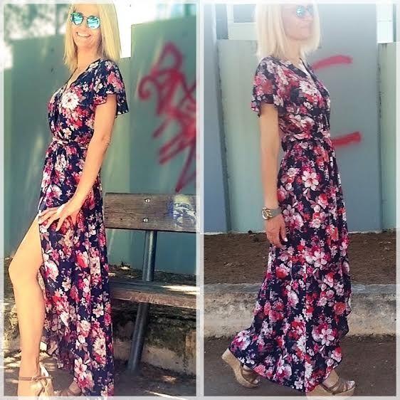Dress gardenprint @ madymay! 100% visk. Size: S-M