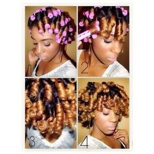 How To Set Natural Hair With Perm Rods