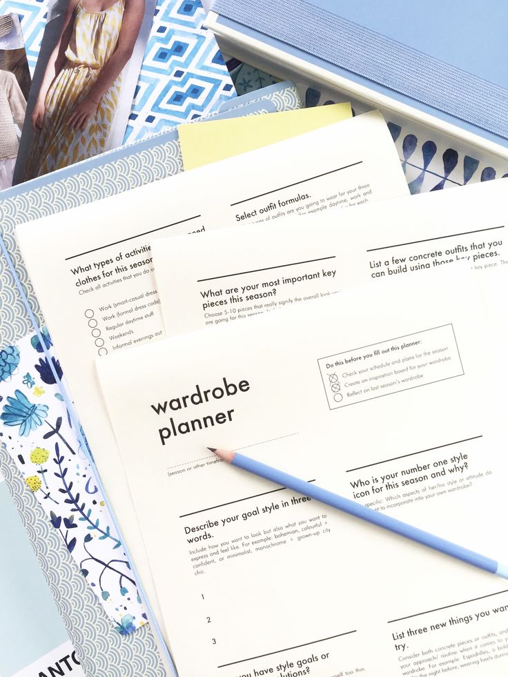 Free Printable Wardrobe Planner