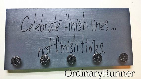 Race Medal Display Celebrate Finish lines not by OrdinaryRunner, $25.00